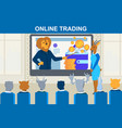 online trading finance strategy business training vector image vector image