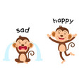 opposite words sad and happy vector image