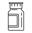 pills jar icon outline style vector image vector image
