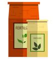 plant fertilizer icon flat isolated