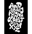 Ragged horror font alphabet vector image vector image
