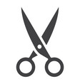 scissors glyph icon web and mobile cut sign vector image vector image