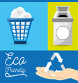set icon for the planet conservation vector image