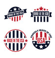 set of made in the usa labels and badges on vector image vector image