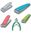 set of nail clipper vector image