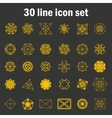 Set of thirty angular abstract icons vector image vector image