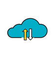 simple line icon cloud business sign eps10 vector image