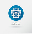 snowflake icon with long shadow vector image vector image