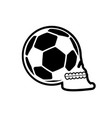 soccer ball skull football fans emblem skeleton vector image vector image
