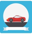 Sports car icon vector image vector image