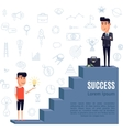 success concept flat vector image vector image