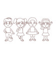 summer kids cartoon black and white vector image