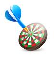 Target dartboard vector image