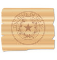 texan state seal brand vector image vector image