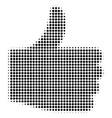 thumb up halftone icon vector image