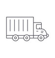 truck car thin line icon concept truck car linear vector image vector image