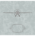 Vintage plane background vector | Price: 1 Credit (USD $1)
