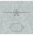 Vintage Plane background vector image