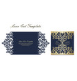 wedding invitation or greeting card with gold vector image vector image