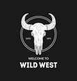 wild west banner template design element can vector image vector image