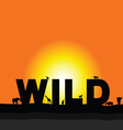 wilderness in colorful vector image
