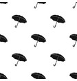 umbrella icon in black style isolated on white vector image