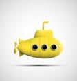 Yellow metal submarine vector image