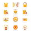 big data icons - juicy series vector image