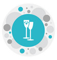 of heart symbol on wineglasses vector image