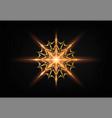christmas shining gold snowflake glowing golden vector image