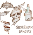 Watercolor caribbean banners vector image
