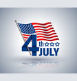 4th july red ribbon with usa star vector image vector image