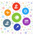 7 application icons vector image vector image