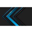 abstract blue metallic arrow direction in dark vector image