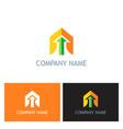 arrow up business company logo vector image vector image