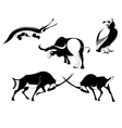 art animal silhouettes vector image