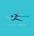 businessman runs forward to success vector image vector image