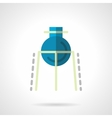 Chemical flask flat color icon vector image
