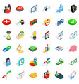 choice icons set isometric style vector image vector image