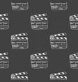 clapperboard seamless pattern vintage handdrawn vector image vector image