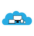 cloud enabled equipment vector image