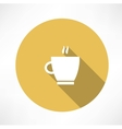 Coffee cup steam icon vector image vector image