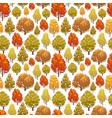 colorful autumn forest seamless pattern design vector image vector image