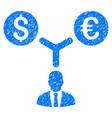 currency management grunge icon vector image
