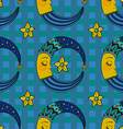 Doodle Moon seamless pattern for children design vector image vector image