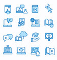 e-learning distance education icons set editable vector image vector image