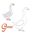 Educational game connect dots to draw goose bird vector image vector image