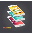 elements of UI User interface vector image vector image