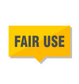 fair use price tag vector image vector image
