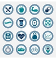 Fitness and health colorful flat icons set